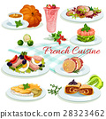 French cuisine popular dishes poster design 28323462