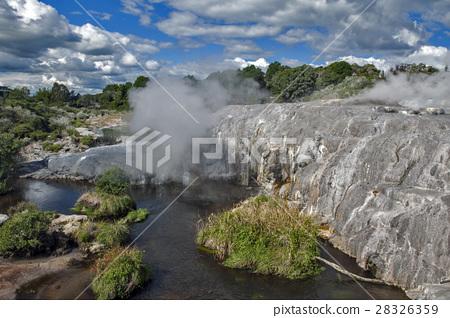 Whakarewarewa Geyser in Rotorua, New Zealand 28326359