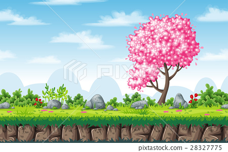 Seamless spring nature background 28327775