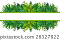 Illustration of a tropical rainforest banner 28327822