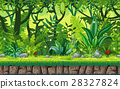 Seamless cartoon nature background 28327824