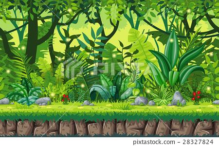 Seamless cartoon nature background 28327824