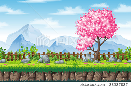 Seamless spring nature background 28327827