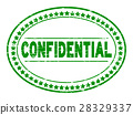 Grunge green confidential oval rubber seal stamp 28329337