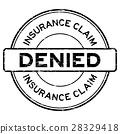 Grunge black insurance claim denied rubber stamp 28329418