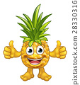 Cartoon Pineapple Fruit Mascot Character 28330316
