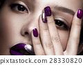Manicure, make-up, woman 28330820