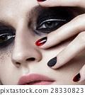 Manicure, make-up, woman 28330823