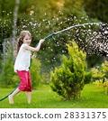 garden, girl, hose 28331375