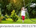 garden, girl, hose 28331378