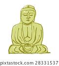 ภาพวาดสีน้ำของพระพุทธเจ้าคามาคุระ 28331537