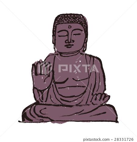 Nara no Buddha watercolor painting hand-painted ink painting 28331726