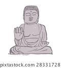 奈良无佛水彩画手绘水墨画 28331728