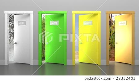 Doors in different seasons 28332403