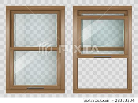 Wooden Sliding window 28333234
