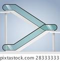 Escalator with transparent glass 28333333