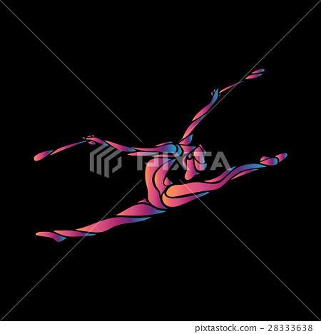 Creative silhouette of gymnastic girl. Art 28333638