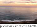 View of open sea at sunset 28334296