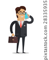 Businessman Character Vector Illustration in Flat 28335935