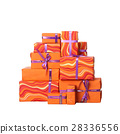 Gift boxes with bow isolated on white background 28336556