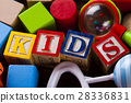 Kids World toy on a wooden background 28336831