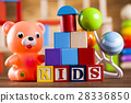 Colorful alphabet blocks, baby toy 28336850