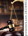 Courtroom, Law theme, mallet of the justice 28336901