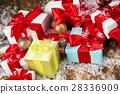 Christmastime celebration, Gift box with ribbon  28336909