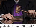 Justice and law concept. Male judge in a courtroom 28337075