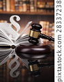 Law books, Paragraph justice concept, Court gavel 28337238