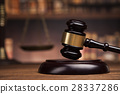 Law books, mallet of the judge, Courtroom  28337286