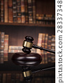 Law and justice concept, Brown wooden background 28337348