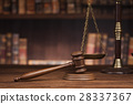 law theme, mallet of the judge, justice scale 28337367