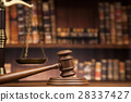 law theme, mallet of the judge, justice scale 28337427