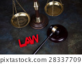 Law wooden gavel barrister, justice concept, legal 28337709