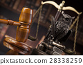 Law books, mallet of the judge, Courtroom  28338259