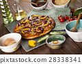 Tasty pizza, tomatoes and others ingredients  28338341