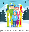 Family Ski Winter Vacation 28340154