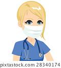 Female Nurse Medical Mask 28340174