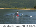 Child in the course of rowing on single 28341026
