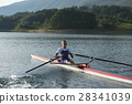 Child in the course of rowing on single 28341039