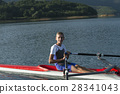 Child in the course of rowing on single 28341043