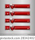 heart, vector, glossy 28342402