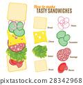 sandwich, burger, how 28342968