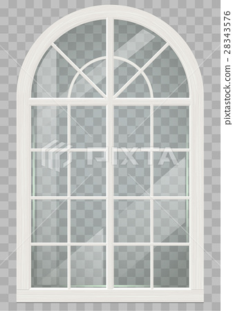 Wooden arched window 28343576