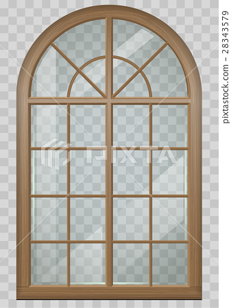 Wooden arched window 28343579