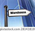 Industry concept: sign Warehouse on Building 28343819