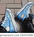 Vector illustration of a hand drawing sneakers 28343985