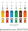 Sorting garbage bins 28347620