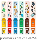 Sorting garbage bins 28350756